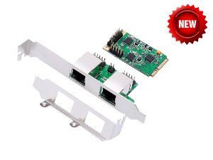 IO-mPCE8111-2GLAN / Mini PCI-Express DUAL Gigabit Ethernet Adapter
