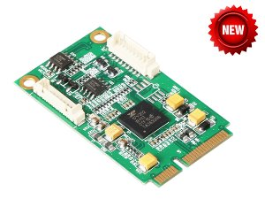 IO-mPCE352A-2S / miniPCI-E turn 2 port RS422/485 industrial serial port card
