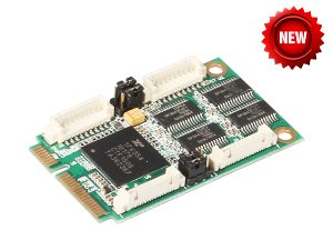 IO-mPCE354-4S/ Mini PCI-Express I/O Card (4x RS-232) MINI PCI 시리얼 4포트 RS232
