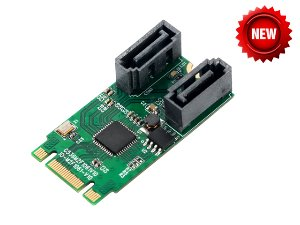 IO-M2F1061R-2IR M.2(PCIe) to 2 Port SATA 6G RAID Adapter