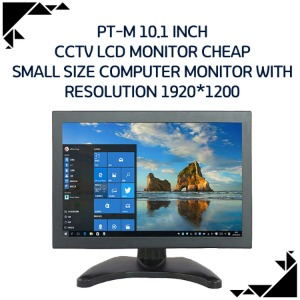 PT-M 10.1 inch cctv LCD monitor cheap small size computer monitor with resolution 1920*1200