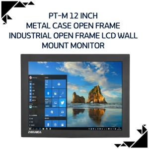 PT-M 12 inch metal case open frame industrial open frame LCD wall MOUNT monitor