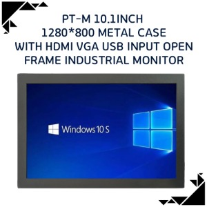 PT-M 10.1inch 1280*800 metal case with HDMI VGA USB INPUT OPEN frame industrial monitor