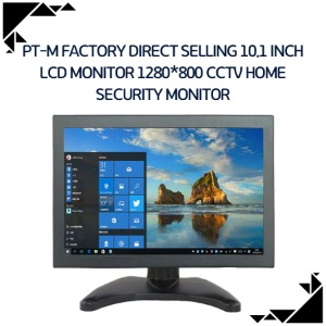 PT-M Factory direct selling 10.1 inch lcd monitor 1280*800 cctv home security monitor